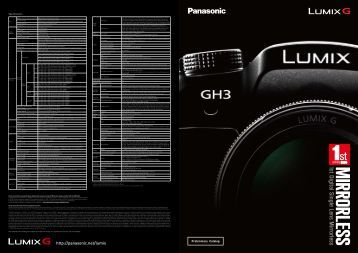 View catalogue - Lumix G Experience - Panasonic