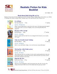 realistic fiction for kids booklist - Salt Lake County Library Services
