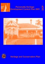 Parramatta Heritage Development Control Plan 2001