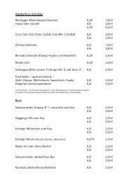 Getraenkekarte neu internet 012011 - Strandhotel Residenz am See
