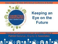 Keeping an Eye on the Future - Iowa League of Cities