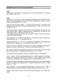 Veröffentlichungen: Prof - Thomas Sternberg MdL