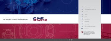 Your Strongest Partner in Mobile Hydraulics - Sauer-Danfoss