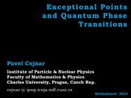 Exceptional Points and Quantum Phase Transitions - Institute of ...