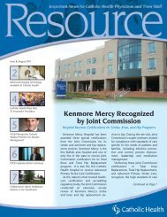 Physician Resource August 2011 - Catholic Health System