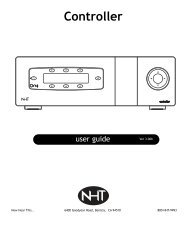 controller user guide 10.qxd - NHT