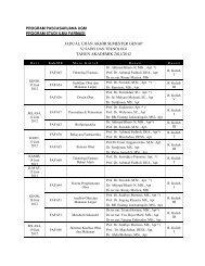 jadual ujian akhir semester genap tahun akademik 2011/2012