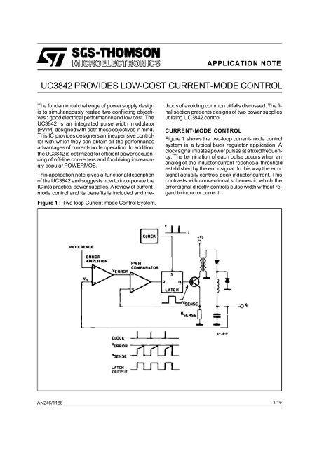 uc3842 provides low-cost current mode control - preterhuman net