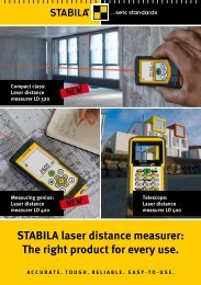 STABILA laser distance measurer: The right product for ... - Agentools