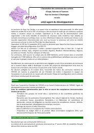 FICHE DE POSTE - Agence régionale pour l'environnement (ARPE)