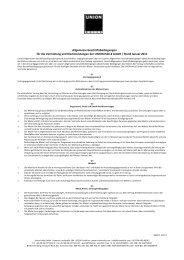 Allgemeine Geschäftsbedingungen für die Vermietung ... - Union Halle