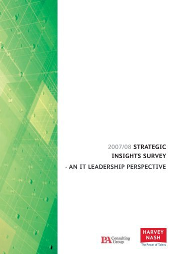 2007/08 Strategic inSightS Survey - an it leaderShip ... - Harvey Nash