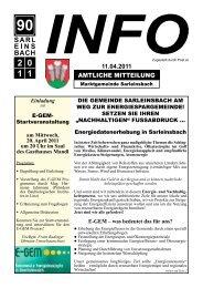 Info 90/2011 - Marktgemeinde Sarleinsbach