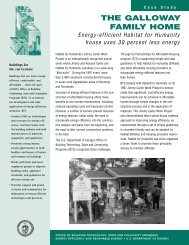 The Galloway Family Home: Case Study - NREL