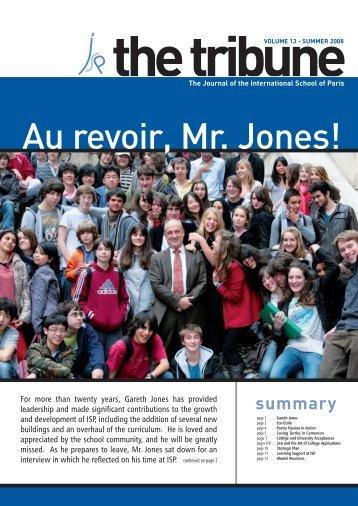 The Tribune Vol. 13 - International School of Paris
