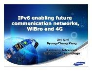 IPv6 and Mobile Wireless Broadband (7.1Mb) - Dr Byung-Chang Kang