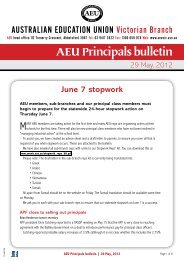 AEU Principals Bulletin May 2012 - Australian Education Union ...