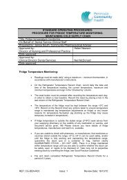 Fridge Temperature Monitoring - the Royal Cornwall Hospitals Trust ...