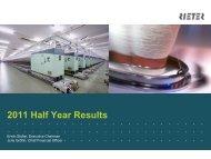 2011 Half Year Results - Rieter