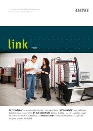 link 3 /2010 04 TECHNOLOGY Al servizio della clientela – i - Rieter