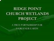 ridgepoint church wetlands - Michigan Water Environment Association