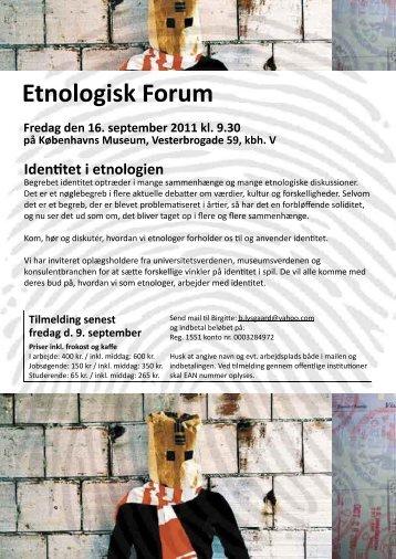 Etnologisk Forum - Københavns Universitet