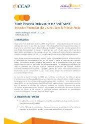 1.Motivation 2. Objectifs de l'atelier - Youth Economic Opportunities