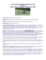 THE VILLAGES CANOE AND KAYAK CLUB - The Village Canoe ...