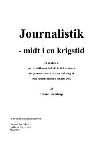Ph.d.afhandling Hanne Jørndrup - Syddansk Universitet