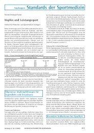 Impfen und Leistungssport - Deutsche Zeitschrift für Sportmedizin