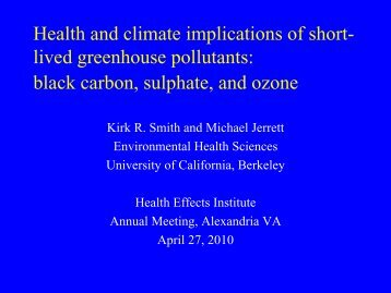 black carbon, sulphate, and ozone - Environmental Health Sciences ...