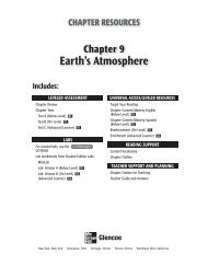 Earth's Atmosphere; Grade 6 Chapter 9 - Peary Middle School