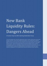New Bank Liquidity Rules: Dangers Ahead - European Banking ...