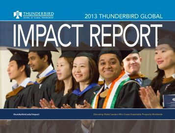 2013 thunderbird GLObAL - Thunderbird School of Global ...