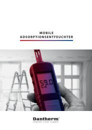 Mobile Adsorptionsentfeuchter - Dantherm