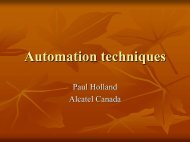 Automation techniques - The Workshop On Performance and ...