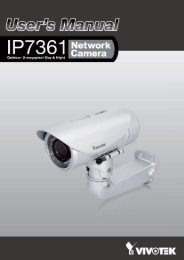 Vivotek IP7361 Manual - CCTV Cameras