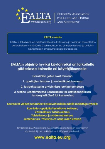 FINAL EALTA poster 28 languages cmyk blue and ... - ealta - EU.org