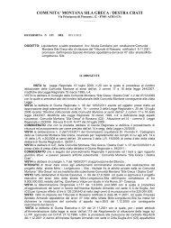COMUNITA' MONTANA SILA GRECA / DESTRA CRATI - Comunità ...