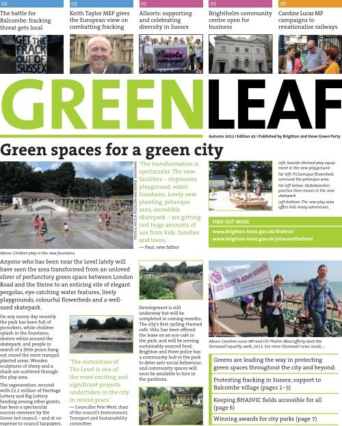 GreenLeaf 45 Autumn 2013 [2.4 MB] PDF - Brighton & Hove Green ...