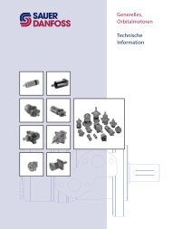 Generelles, Orbitalmotoren Technische Information - Sauer-Danfoss