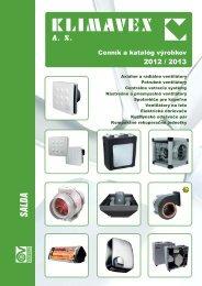 Cenník a katalóg výrobkov - KLIMAVEX as