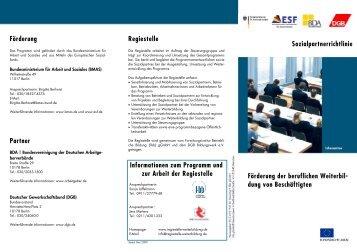 Sozialpartnerrichtlinie - Netzwerk Weiterbildung