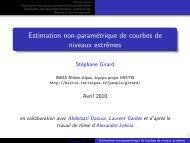 Estimation non-paramétrique de courbes de ... - Mistis - Grenoble