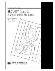 SLC 500™ ISOLATED - Spectrum Controls, Inc.