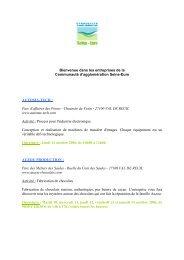 Voir la liste des entreprises - Science Action Haute-Normandie