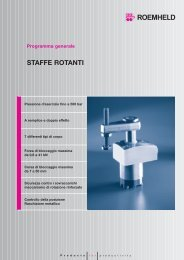 Programma generale STAFFE ROTANTI - Römheld GmbH