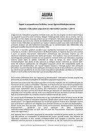 Éducation populaire et intervention sociale - Injep