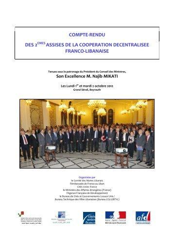 Compte Rendu des Assises Franco-libanaises 2012 - CGLU-BTVL