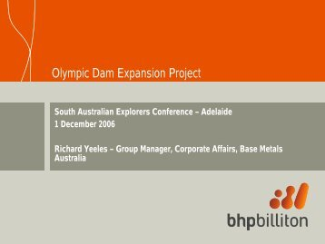 Olympic Dam Expansion Project - SA Explorers